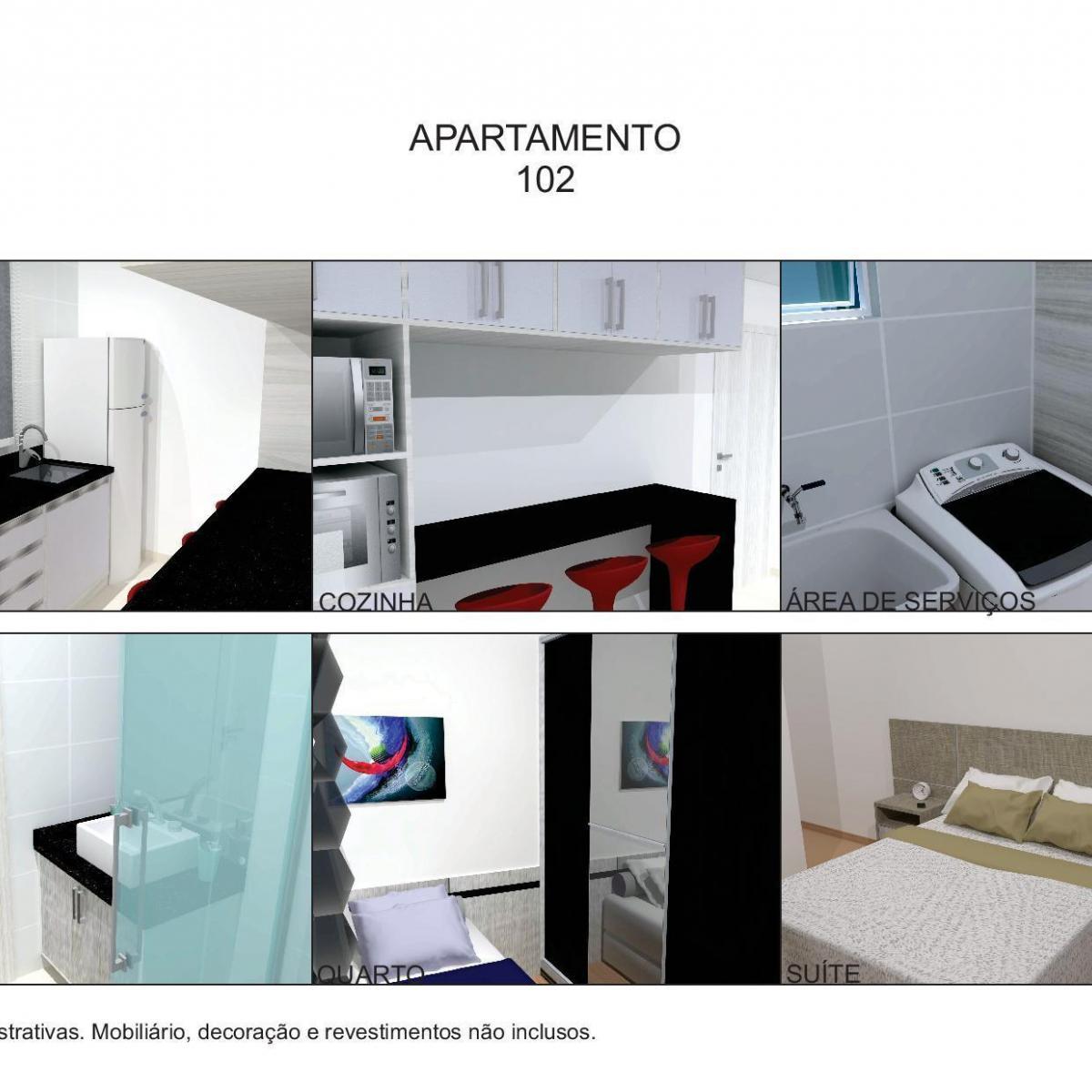 Apartamento à venda com 2 Quartos Portão Curitiba Consultar  #64211D 1200 1200