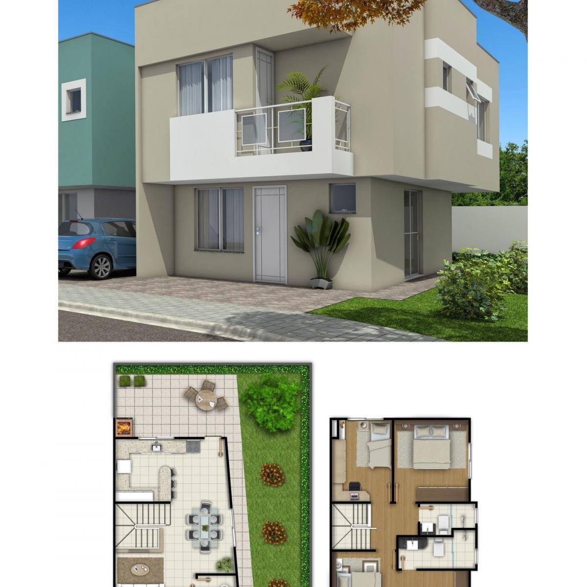 Casa à venda com 3 Quartos Santa Cândida Curitiba R$ 270.000 93  #1A67B1 1200 1200