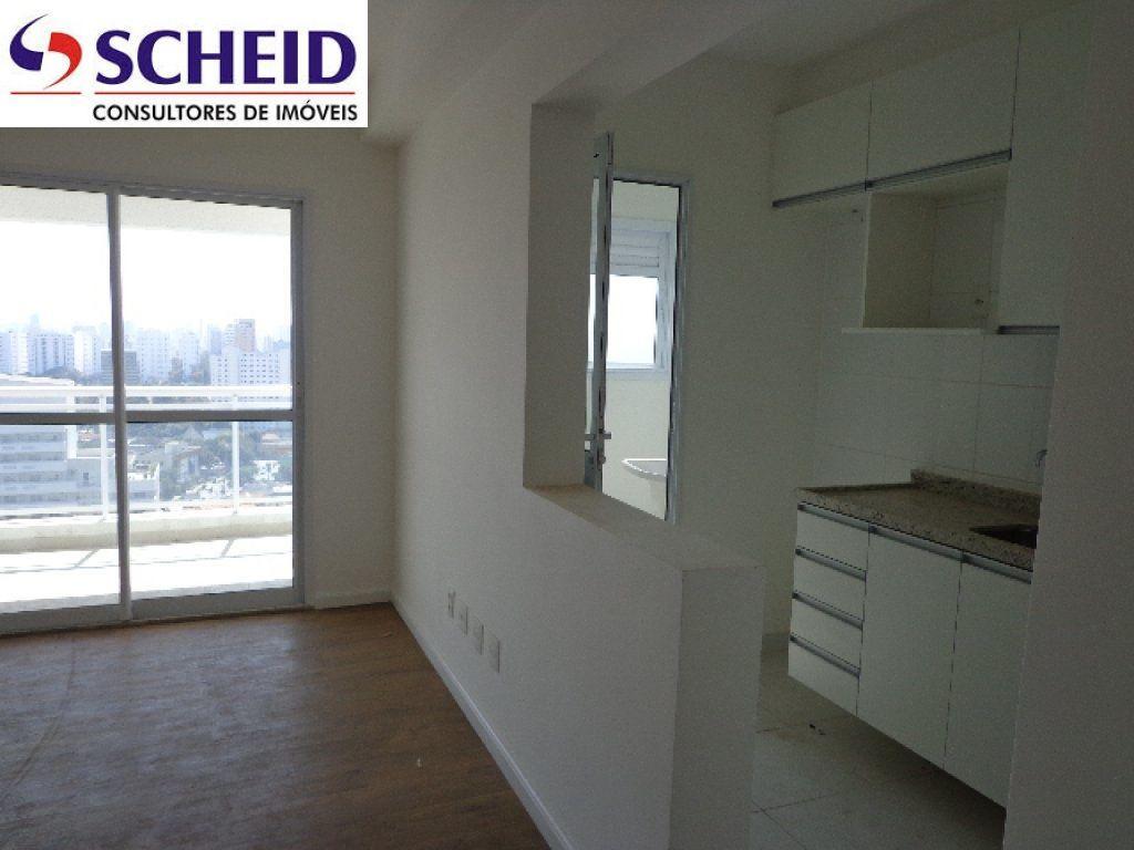 Apartamento à venda com 1 Quarto Santo Amaro São Paulo R$ 480  #3D3061 1024x768 Alarme Banheiro Deficiente