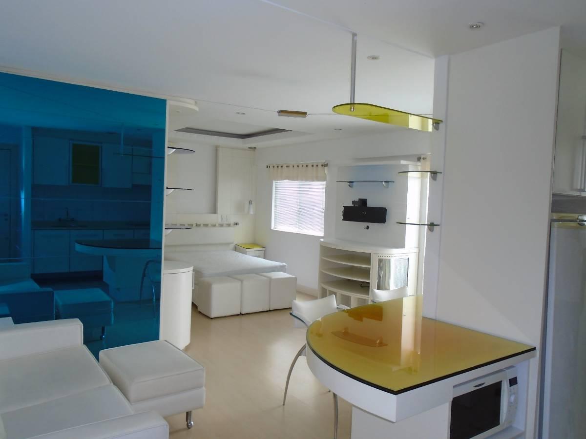 Apartamento tipo Studio com 90 37 m² de área TOTAL 45 93 m² de  #044665 1200x900 Banheiro De Apartamento Tipo Studio