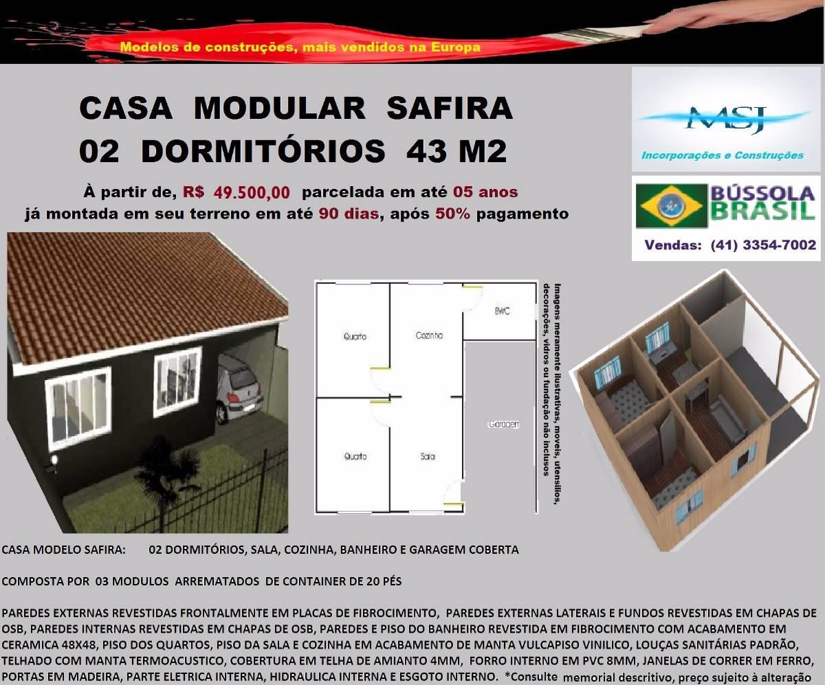 Casa à venda com 0 São Lourenço Curitiba R$ 49.500 43 m2 ID  #BA1118 1200x997 Banheiro Container A Venda