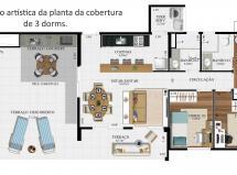 Cobertura 3 Dorms