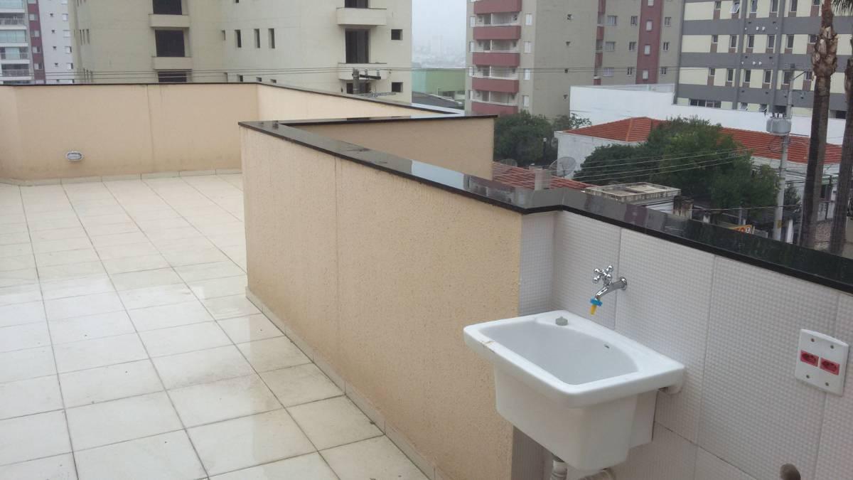 COBERTURA SEM CONDOMÍNIO, 2 Dormitórios, 1 Vaga - Campestre - Santo André - SP