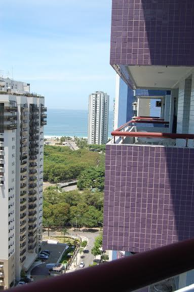Apartamento de 1 quarto com vista mar - Barra da Tijuca