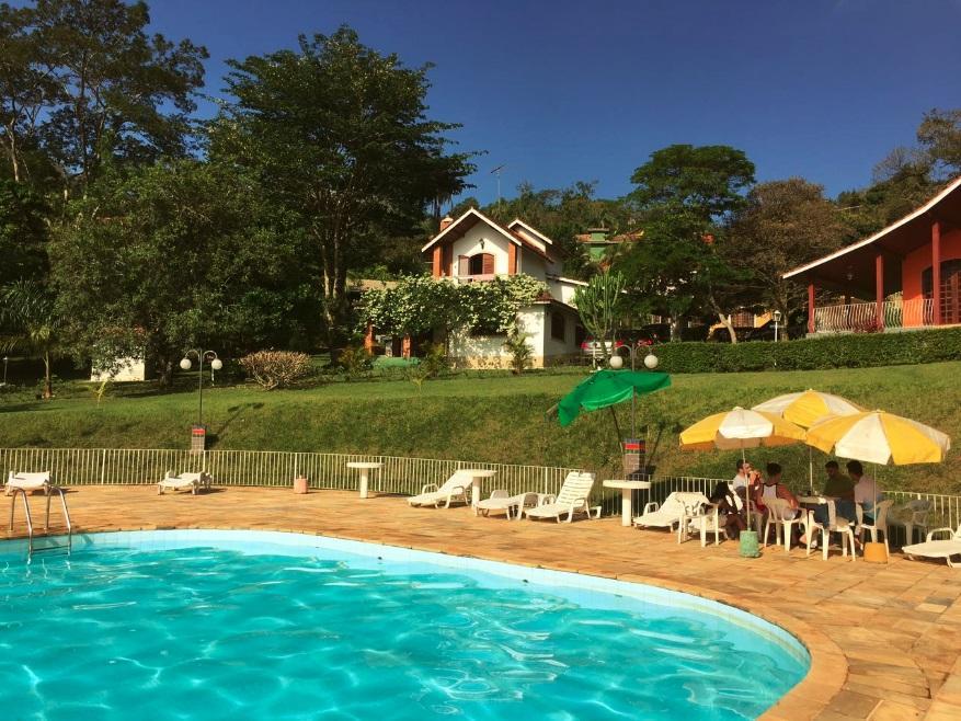 Vista da casa da piscina