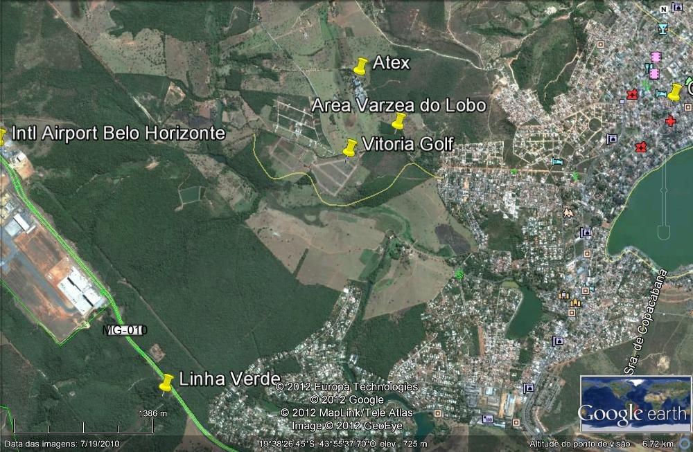 Excepcional área de 53.000 m² junto do Aeroporto de Confins