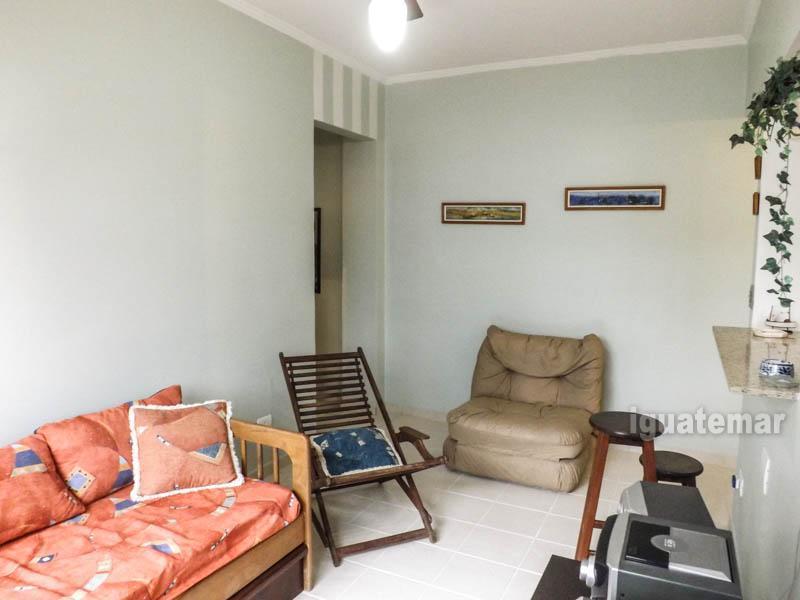 Apartamento à venda com 1 Quarto, Tombo, Guarujá - R