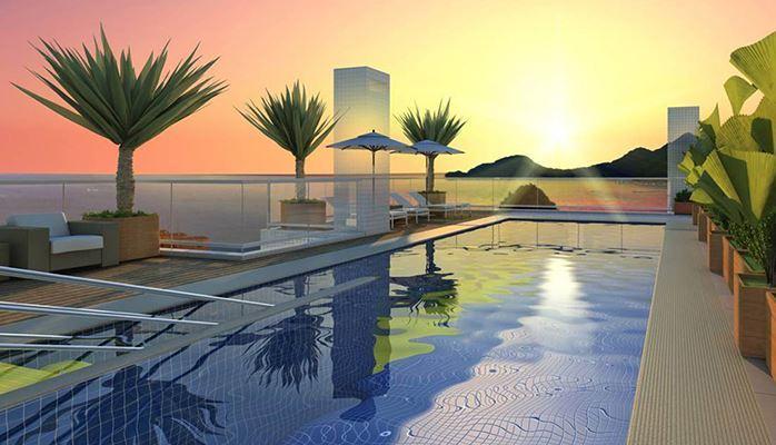 Apartamento 01 dormitório, 01 vaga, na praia, Pompéia, Santos