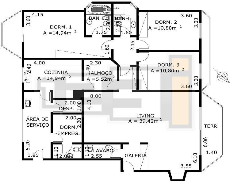 Excelente apartamento de 178m no Miolo nobre do Campo Belo - DIR. PROPRIETARIO