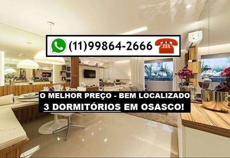 3 Dorms. c/ varanda Vila Yara por R$ 279.000,00 AO LADO DA CPTM E SHOPPING !