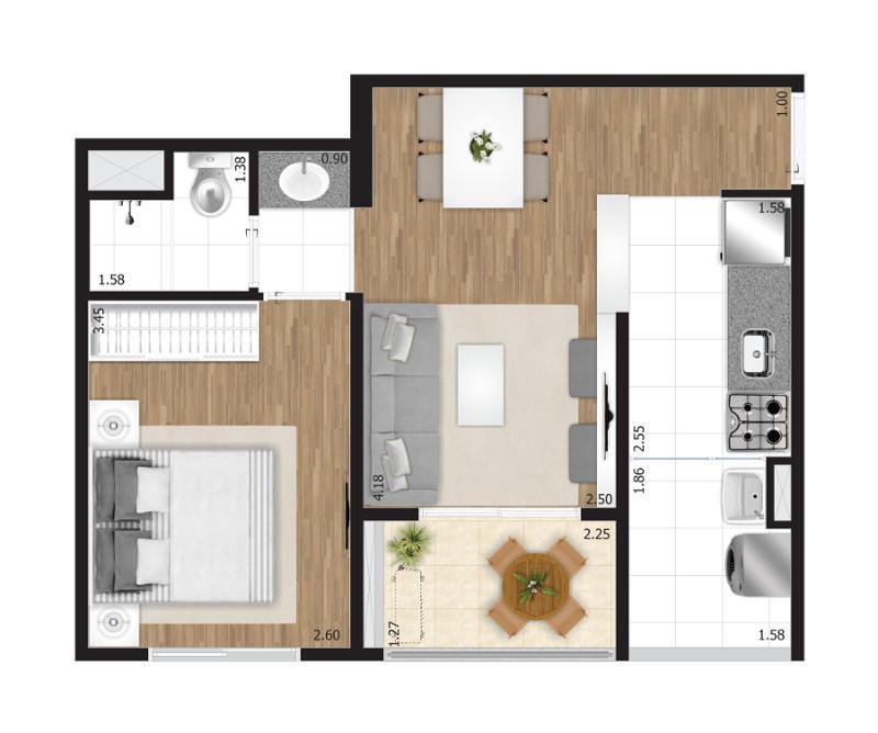 apartamento 3 dotmitorios 60m zona norte vila maria