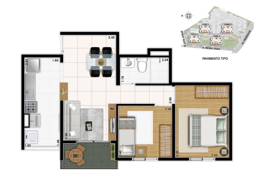 apartamento 3 dormitórios  61 m² vila dos remedios zona oste faça sua proposta