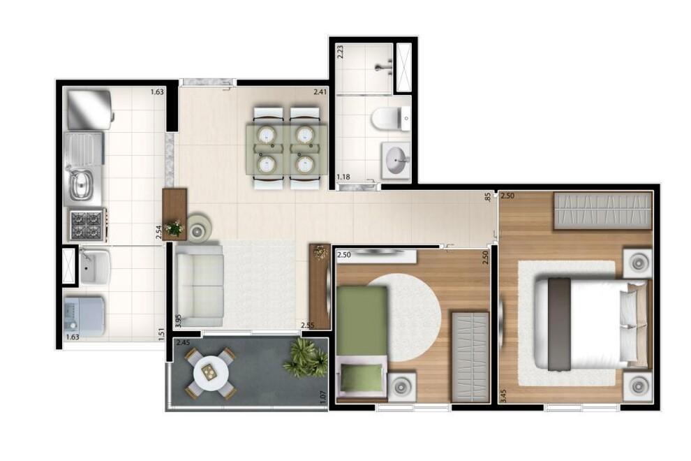 Apartamento, 60m², 3 dorm, Jaguaré, SP - Comprou ganhou TV SMART 40