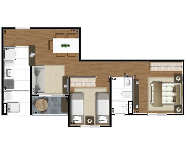 Apartamento de 3 dormitórios 61m vila guilherme zona norte