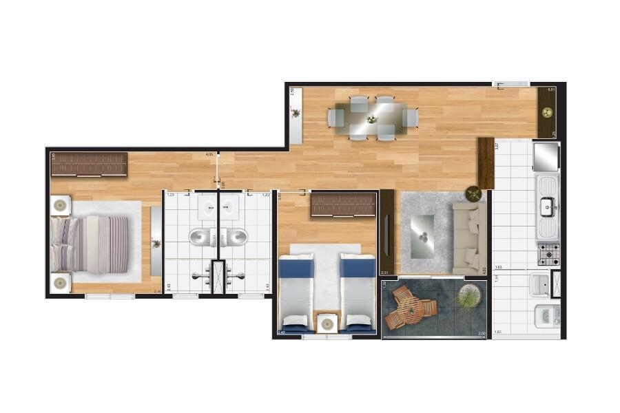 apartamento 3 dormitorios 65m freguesia  zona norte faça sua proposta