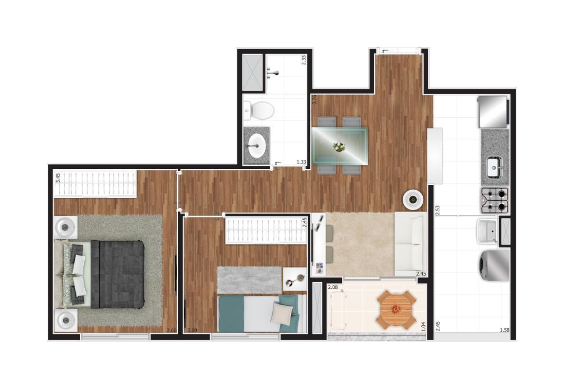 Apartamento 2 e 3 dormitórios Tatuapé 47m² lançamento
