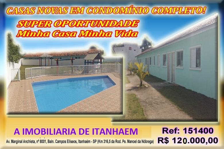 Casa condomínio com piscina. Itanhaém