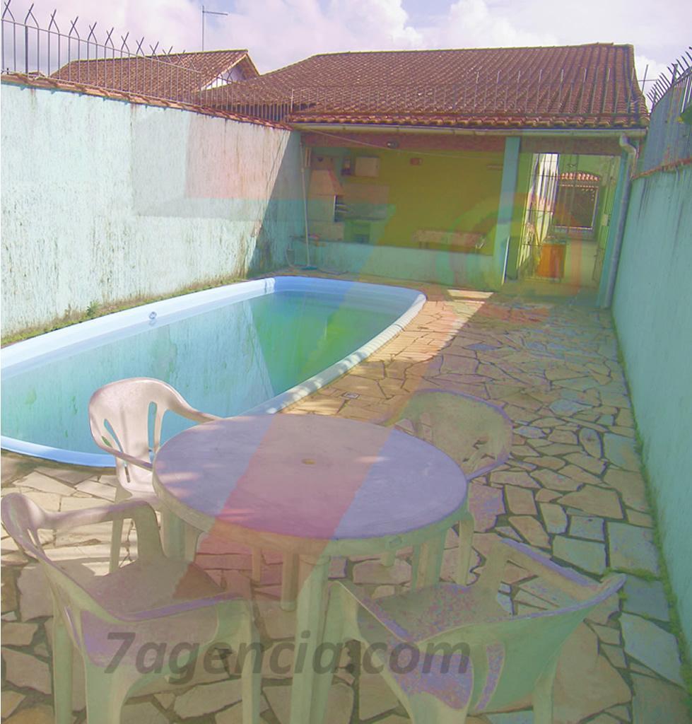 Ch18 Casa na Praia c/ Piscina, 2dorms,  Churrasqueira