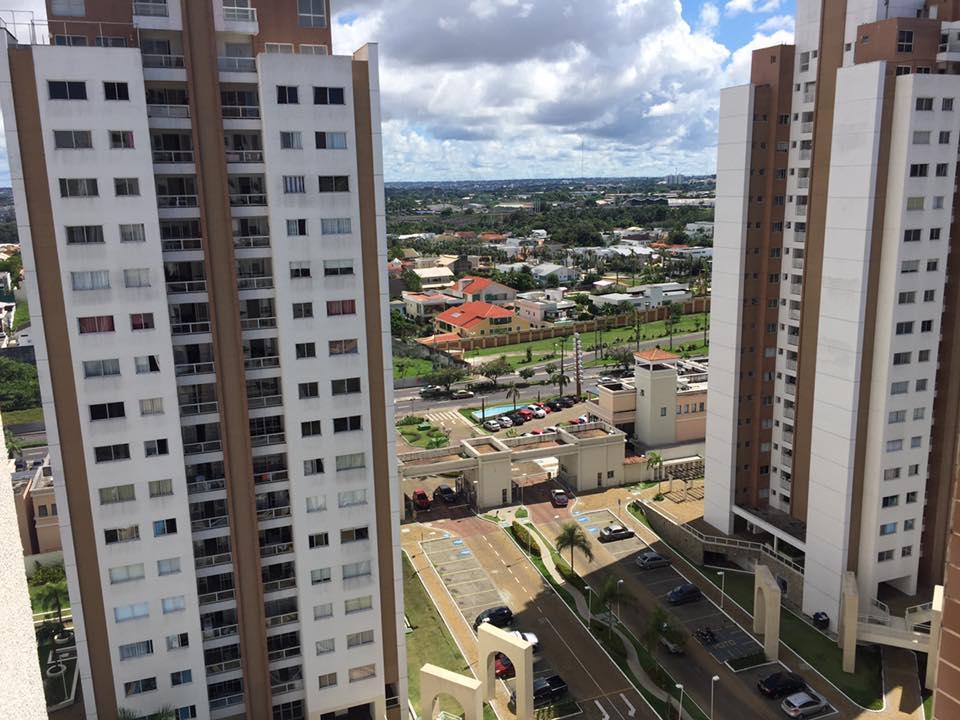 Aluga Apartamento Com 96m2 semimobiliado andar alto com vista para Area de Lazer na Av Ephigenio Sal