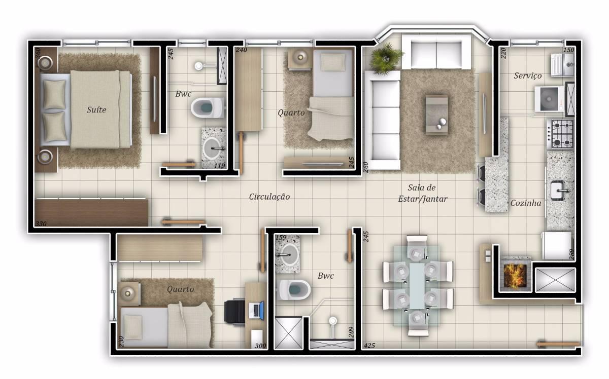 Apartamento 3 (três) quartos (Perfeito para morar)