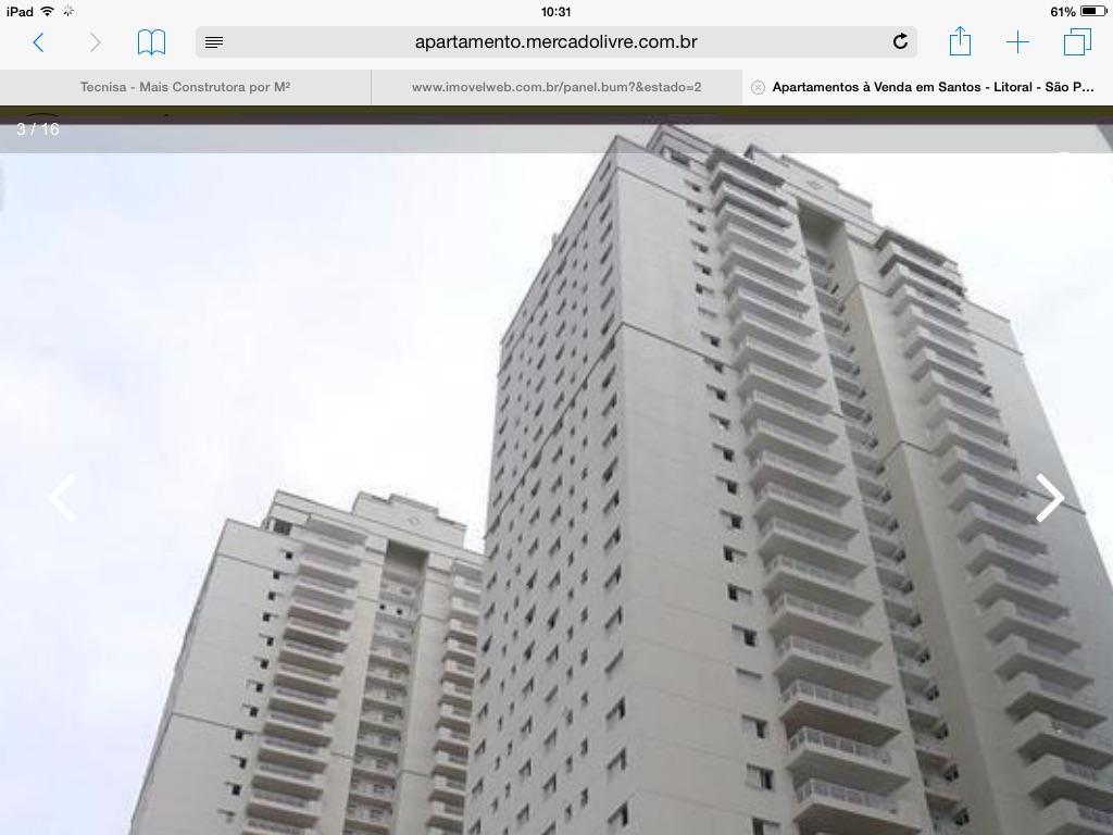 Apartamento bossa nova - 150m - 3 dorms - SANTOS
