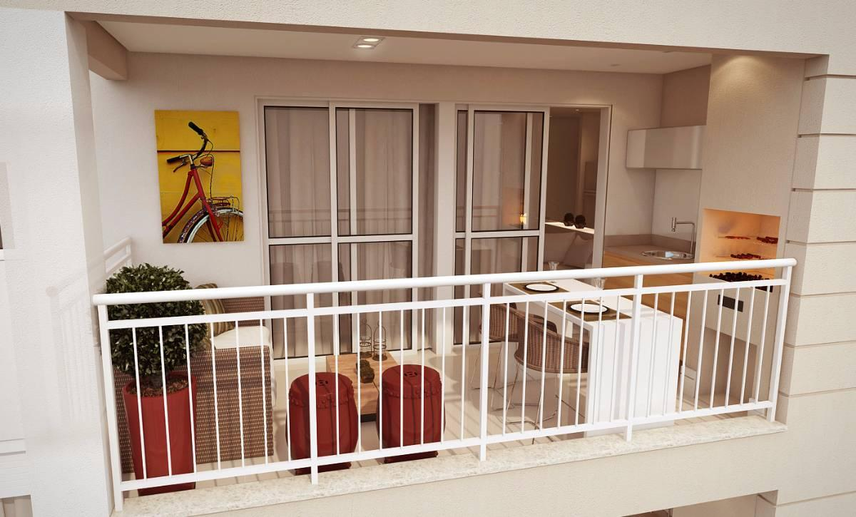 Apartamento na Barra Funda de 64 m² com 2 dorms 1 suíte 1 vaga - terraço/churras
