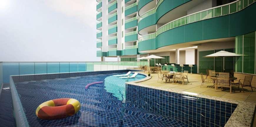 Apartamentos 1/4 com 39 m²,  suite e varanda (Ondina)