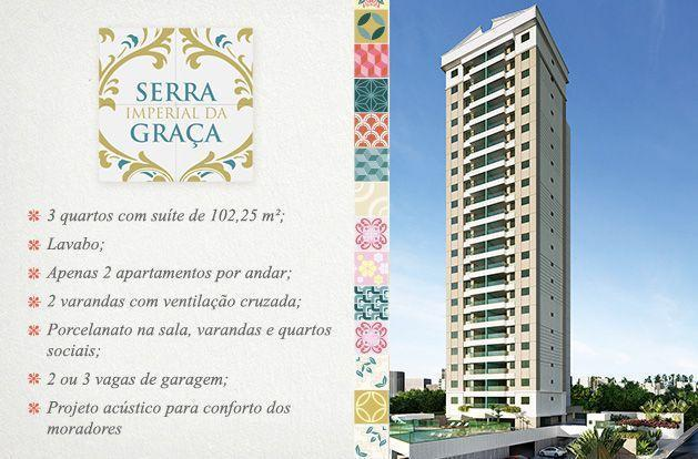 Apartamento 3/4, sendo 2 suites com 2 vagas, Confira, Serra Imperial da Graça