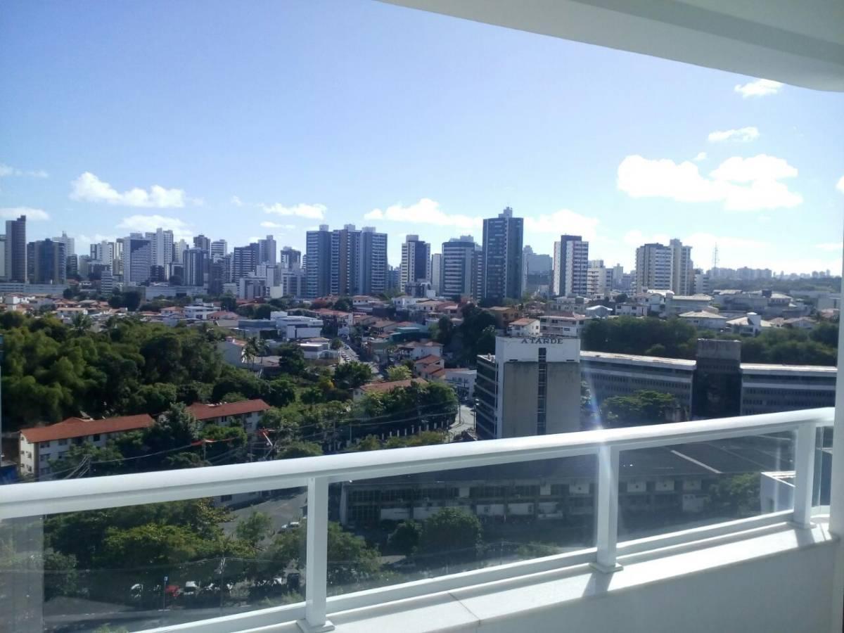 Mondial Salvador Residence, duplex , 2 suítes, frente Shopping Salvador, 120 m²