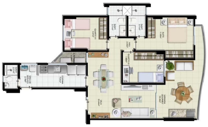 Apartamento na Pituba, 3/4 com 2 vagas, proximo ao Shopping Itaigara, Novo.