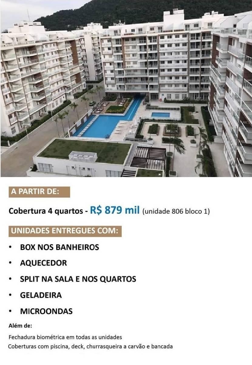 Recreio - Frames Residence - Cobertura 4 quartos - R$879.000,00