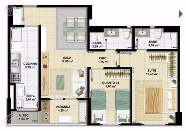 Apartamento 2/4 no acupe de brotas, novo com lazer completa, Acupe Exclusive