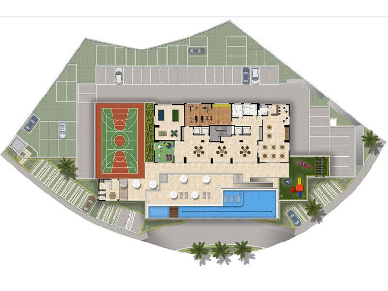 Sigullare Iguatemi 2/4, suite e varanda Parque Bela Vista, Novo, 53m