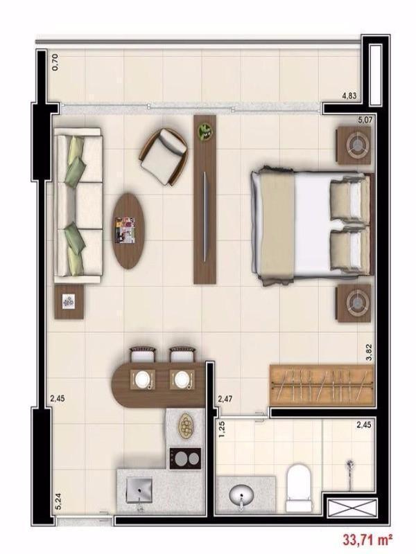 DF Century Plaza - Apês de 1 e 2 quartos em Águas Claras - Só 175 mil
