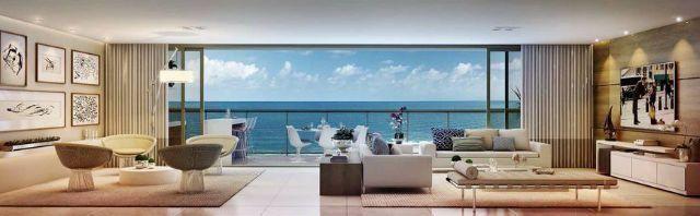 Apartamento alto luxo Jaguaribe, 4/4 e 4 vagas de garagens, frente Mar. D´azur