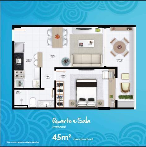 Apartamento em Amaralina, novo, 1/4 com lazer completo, bem localizado.