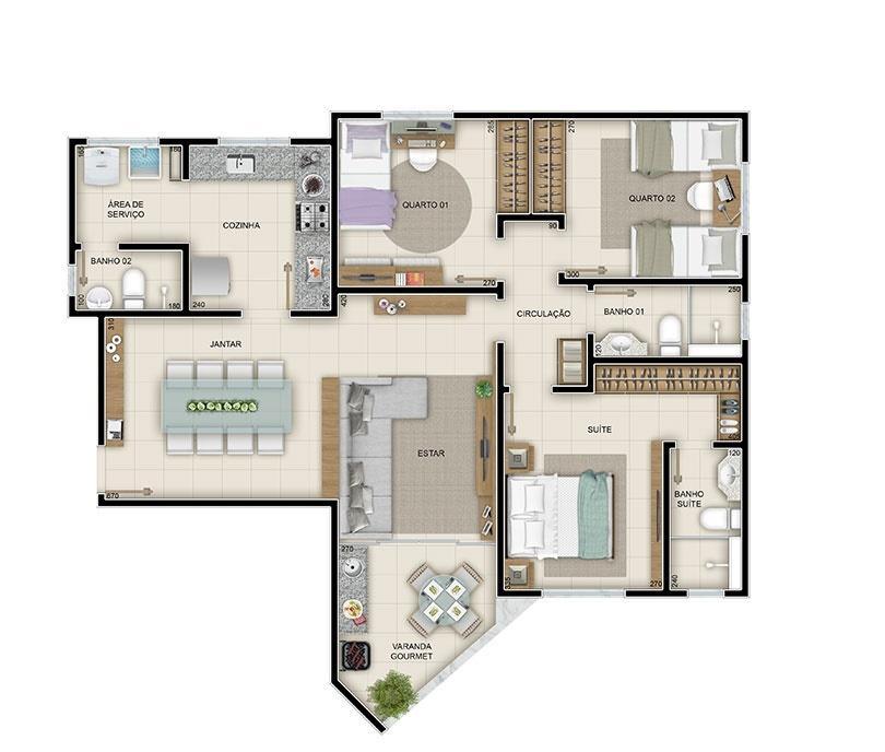 Apartamento à venda - em Engenho Nogueira