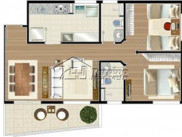 Apartamento novo, 2 dormitórios, sacada, 2 vagas no Jardim São Dimas
