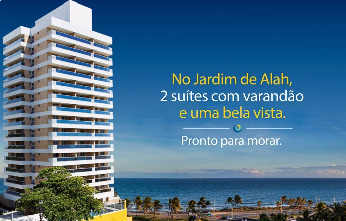 Apartamento em Armação, 2/4 com 76m² - Vista Mar - Miramar