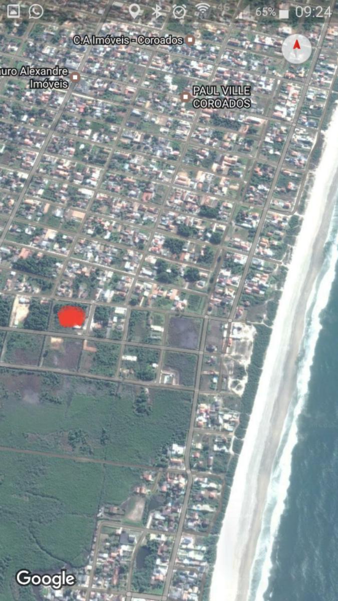 área 360m²  Terreno plano  Coroados Guaratuba Litoral  Lote Seco Praia