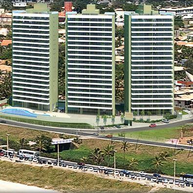 Cobertura em Jaguaribe, 4/4 sendo 4 suítes com 395 m², 4 vagas,Frente Mar.