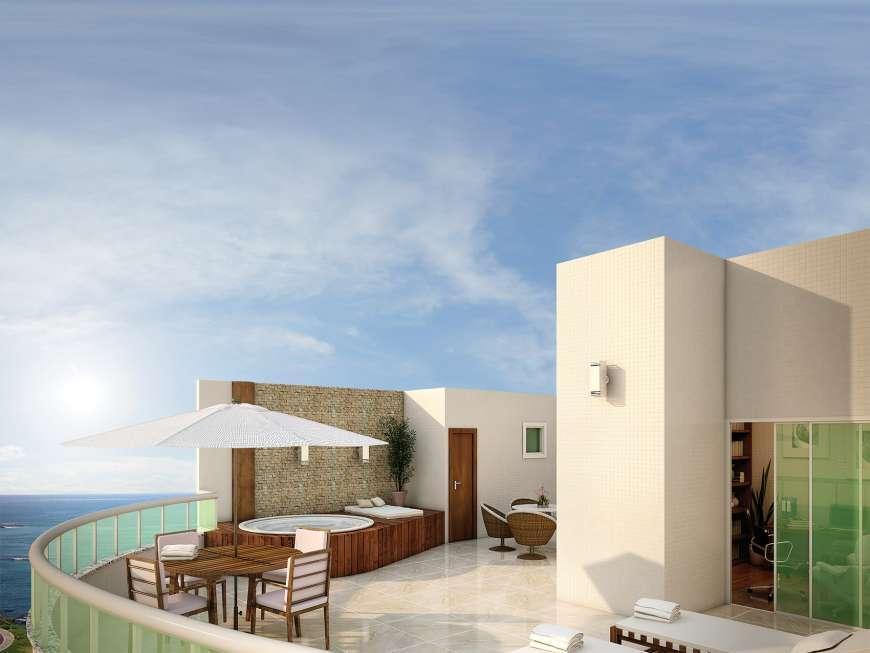 Ondina Ocean, 1 e 2/4, cobertura, 167 m²