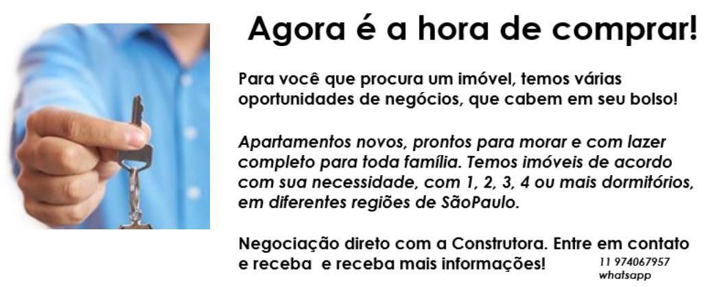 Apartamentos á venda em São Paulo com 1, 2, 3 4 e 5 Dor. em diferentes regiões.