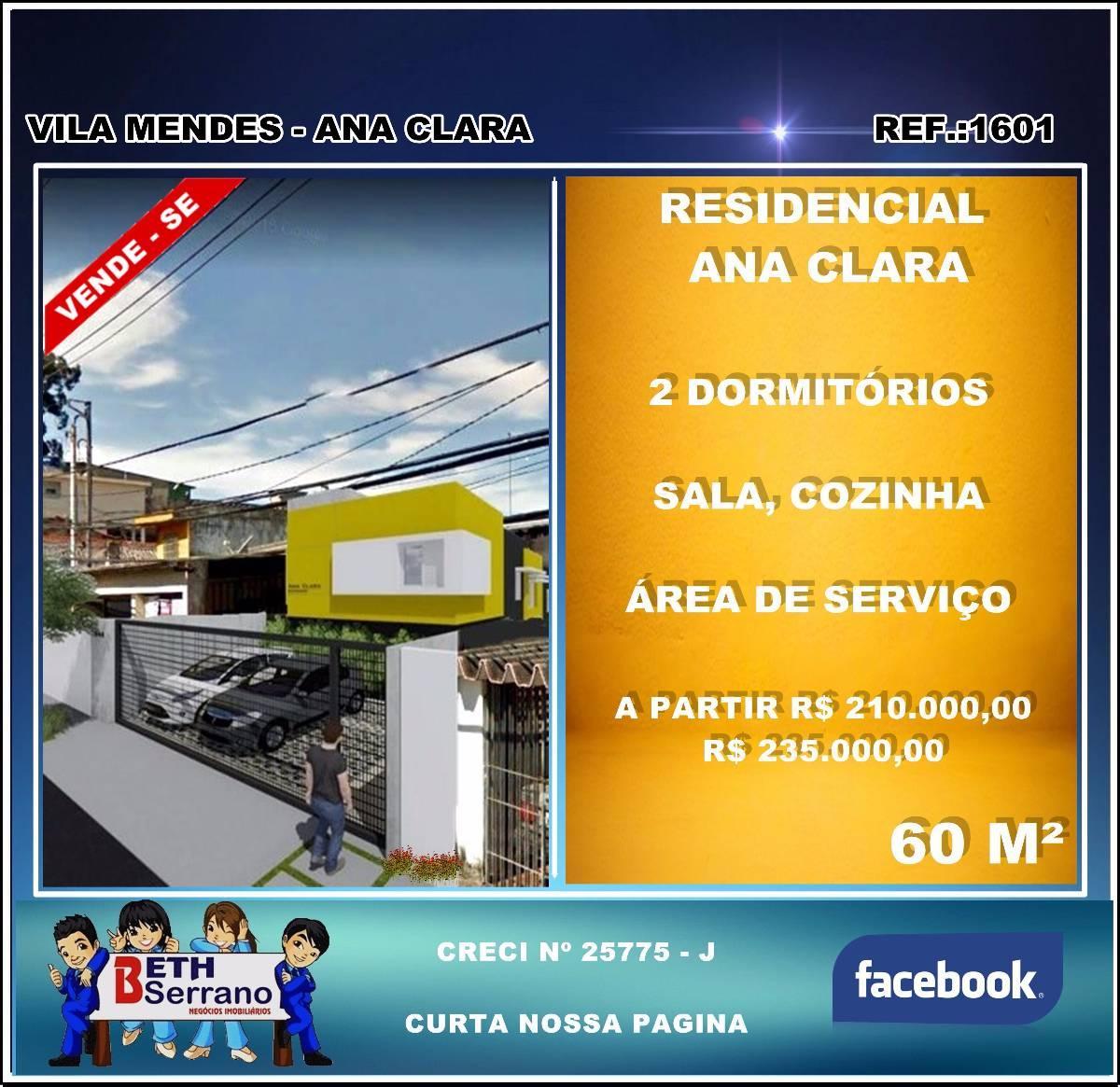 Sobrado em Condomínio 60 m² para Venda no bairro Vila Mendes