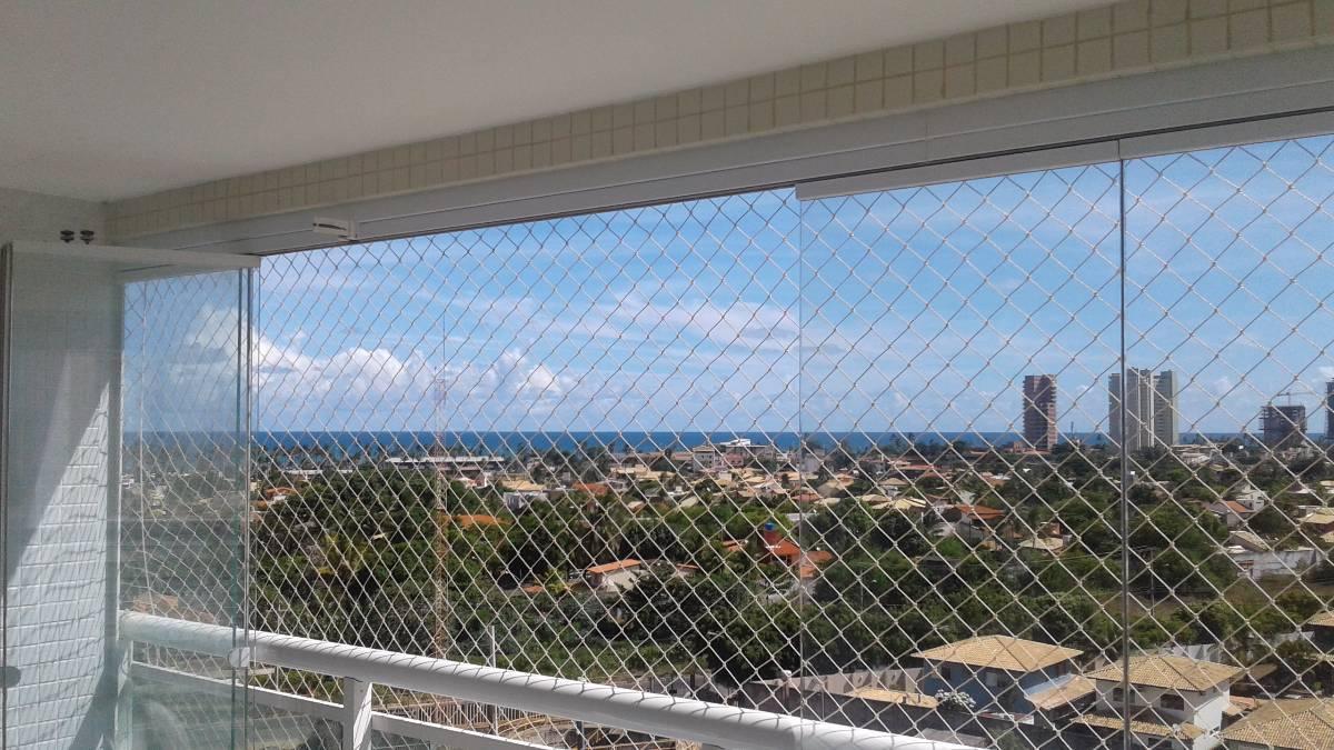 Apartamento 3 quartos, uma suíte e varanda com vista para o mar em Patamares