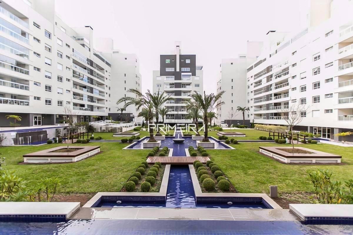 Apartamento semi-mobiliado 4 dorm´s 3 vagas andar alto ÁGUA VERDE - ED. QUARTIER
