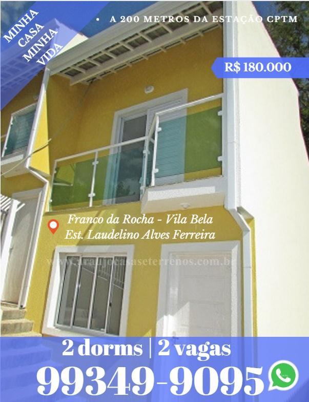 Vila Bela Franco da Rocha -2 dormitórios 2 vagas - Aceita financiamento na Caixa