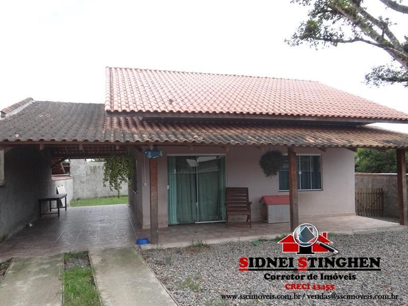 Casa de alvenaria com laje e c/ 84,00 m², em Bal. Barra do Sul – SC.