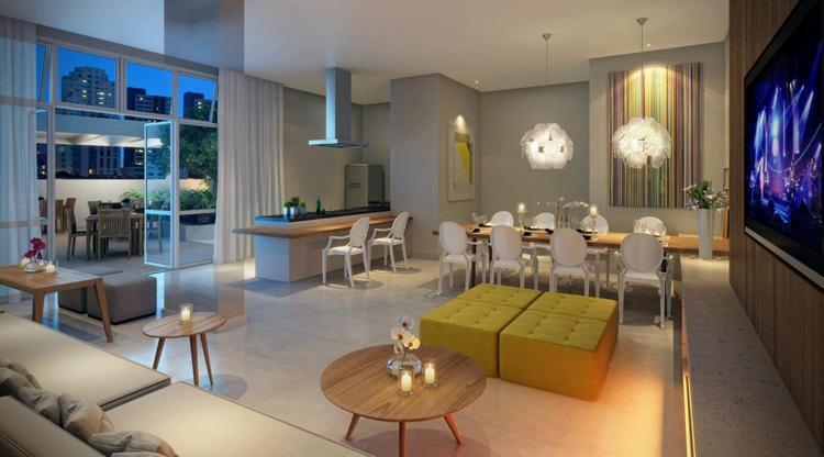 Apartamento na Santa Cecília de 36 m² com 1 dorm 1 vaga