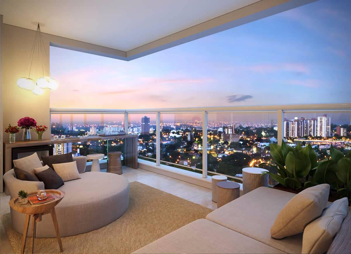 Apartamento no Campo Belo de 34 m² com 1 dorm 1 vaga e terraço integrado